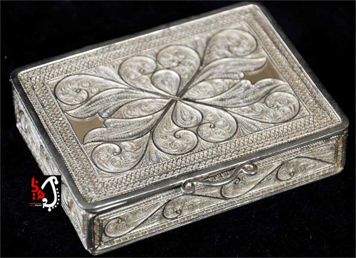 جعبه جواهرات نقره